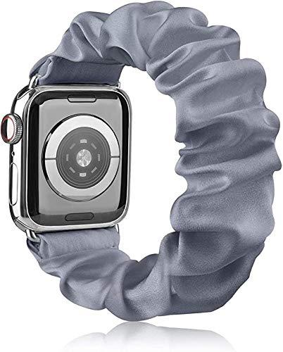 Scrunchie Cinturino Compatibile per Apple Watch 38mm 40mm 42mm 44mm, Seta Morbido Stampato Bracciale...