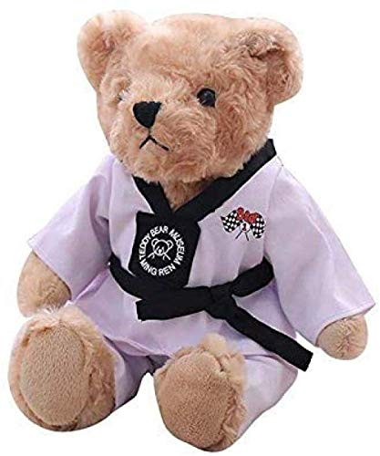 MEELLION Juguetes de Peluche 40cm de Kawaii Taekwondo Oso de Peluche Oso de Peluche muñeca Regalo Creativo de los niños cumpleaños cumpleaños Amor de una Vida
