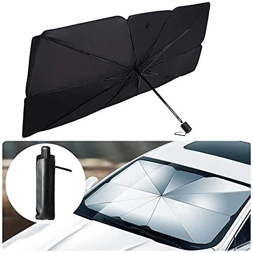 Sombrilla Paraguas del Coche,Plegable Parasol Coche Delantero,Parasol para Parabrisas Protección,Plegable Parasol Delantero,Plegable...