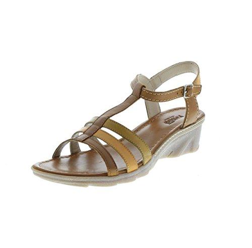 Khrio, Damen Sandalen, Mehrfarbig - Cuoio Cannella - Größe: 37 EU