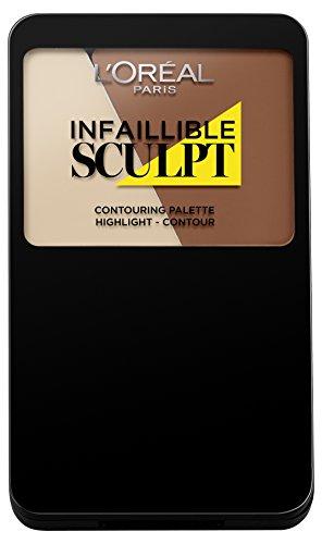 L'Oréal Paris Indefectible Sculpt Palette, 300 medium dark / Make Up Contouring Palette mit Gel-to-Powder Technologie, auch für Contouring Anfänger geeignet / 1 x 10 g