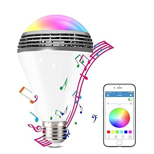 Wifi Smart Bulbs LED Kleurrijke Bluetooth-Luidspreker Dimbaar 256 Kleuren RGB-Kleuren Slimme Gloeilampen Werken Compatibel Met Alexa, Google Home, APP-Afstandsbediening, Spraakbesturing