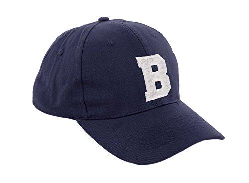 morefaz Unisex Jungen Mädchen Mütze Baseball Cap Marineblau Hut Kinder Kappe Alphabet A-Z TM (B)