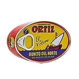 Ortiz Bonito Del Norte Tuna in Olive Oil 3.95 Oz Oval Tin (Spain) 6 Pack