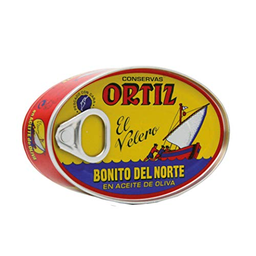 Ortiz Bonito Del Norte Tuna in Olive Oil 3.95 Oz Oval Tin (Spain) 6 Pack