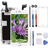 GULEEK Pantalla para iPhone 6s Plus 5,5' LCD Táctil Pantalla con Cámara Frontal,Sensor de proximidad,Altavoz, ensamblaje de Marco digitalizador y Kit de reparación (Blanco)