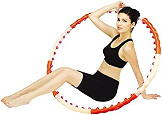 Jinpoli Health Magnetic2 Hula Hoop 1.2Kg(2.65lb) Weighted with Original Box Massage Ball