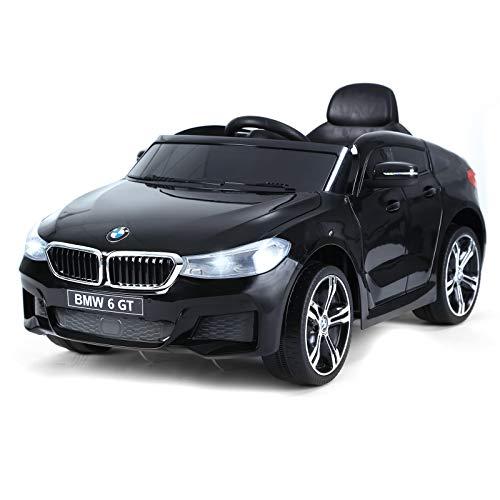 homcom Macchina Auto Elettrica 6 V con Telecomando per Bambini PP 106 x 64 x 51 cm Nero