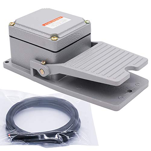 Twidec/AC 380V 15A Heavy Duty Foot Switch SPDT NO NC Electric Pedal Momentary Foot Pedal Switch LT-3