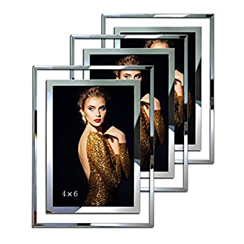 Picture Frames 4x6 Picture Frame Standing Photo Frames 4x6 Wedding Gift Ideas - 3 Pack