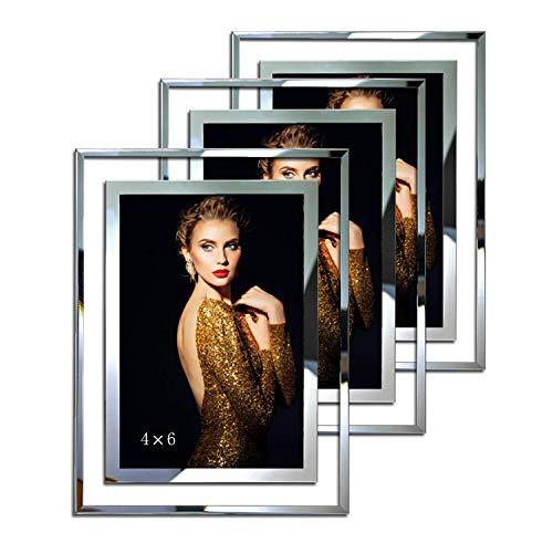 Marcos de fotos de 10 x 15 cm, marcos de fotos de pie de 10 x 15 cm, ideas de regalo de boda, paquete de 3