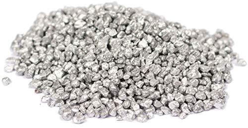 HEKU 30332-23: Deko-Granulat Silber, 750g, in wiederverschließbarer Dose, 750 Gramm