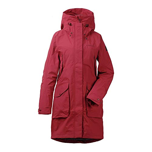 Didriksons Thelma Parka 3 Women - Wasserdichter Regenmantel, Element Red, 42