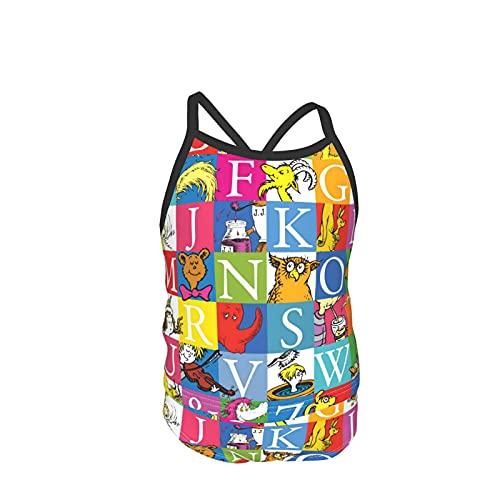 Colorido Rubik's Cube Girl traje de baño de dos piezas (camiseta de tanque+pantalones cortos) Halter cuello bikini niños trajes de baño de cintura alta playa deporte trajes de natación para vacaciones