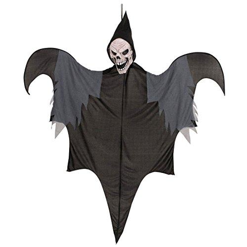 Amakando Décoration fâcheuse effrayante à Suspendre Squelette Horreur crâne 140 cm Mort déco fête Mannequin Halloween Veille de la Toussaint