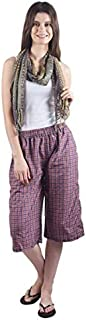 Gemmy Days Womens Poly Cotton Capri Casual wear/Red Checks
