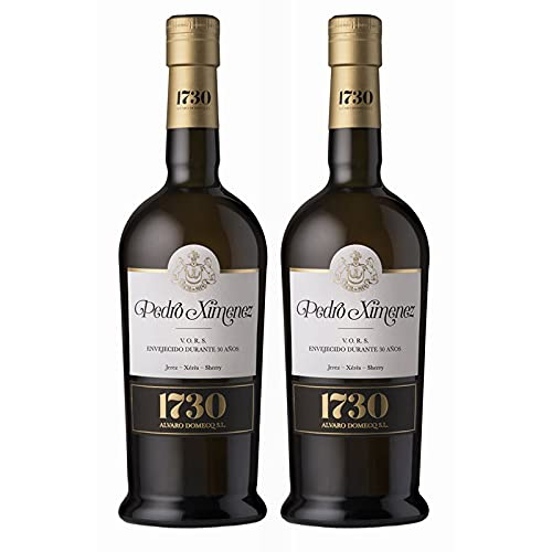 Vino dulce Pedro Ximenez VORS 1730 de 75 cl - D.O. Jerez-Sherry - Bodegas Alvaro Domecq (Pack de 2 botellas)