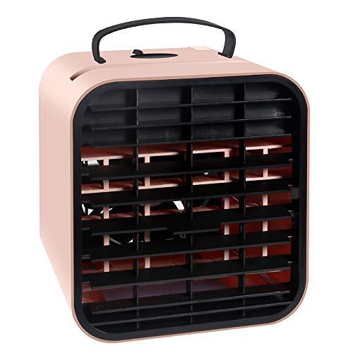 Aire Personal Y Portátil Aires Acondicionados Móviles Mini Enfriador De Aire Aire Acondicionado Portátil Humidificador Ventilador para El Hogar Oficina (Color : Pink)