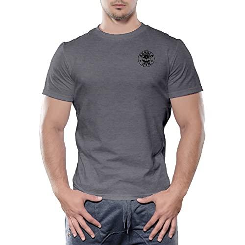 Essential Bodybuilding - Camisetas de entrenamiento para hombre, artes marciales mixtas, gimnasio, fitness, musculares, gris oscuro, 3XL