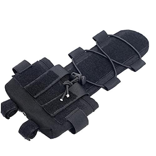 Casco táctico de la batería Contrapeso la Bolsa del Airsoft Casco Pesa de compensación Bolsa Casco Universal para Airsoft Paintball al Aire Libre Negro