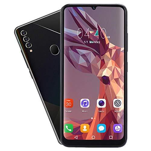 T angxi 6.7' Water Drop Smartphone, 2+16 Interactive Design Fingerprint Face ID Mobile Phone Dual Card Smartphone OS for Android 9.1, 1300W Lens Dual Cards Dual Standby Phone(UK)
