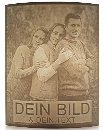 Personalisierte-Lampe mit Bild aus dem 3D Drucker - Foto Geschenk mit Ständer - romantisches Liebesgeschenk mit Foto-Gravur - Led Dekoration - Germany