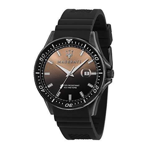 Maserati Reloj para Hombre, Colección Sfida, en Acero Inoxidable, Silicona, con Correa de Silicona - R8851140001