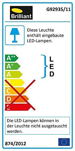Brilliant Anthony - Lampada da tavolo a LED, colore titanio