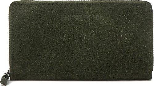 Portemonnaie Damen Leder Geldbörse groß mit Reißverschluss Lederbörse Damenbörse Geldbeutel für Frauen mit vielen Kartenfächern von PHIL+SOPHIE