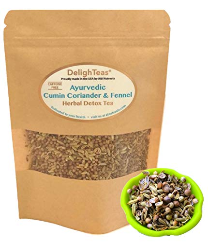 Ayurvedic Detox Cumin, Coriander and Fennel Tea - Organic Detox Tea - Supports weight management and enhances nutrient absorption (CCF Loose Tea, 1.5 oz.)