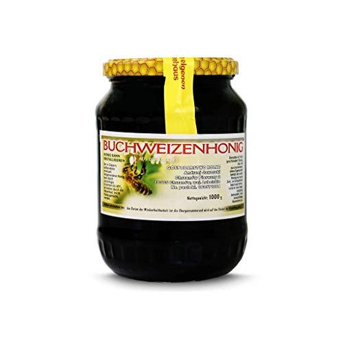 Buchweizenhonig 1 kg - Honig 1000g - Honey Direkt vom Imker - Buchweizen roher 1kg - Frisch Honig - Ohne Zusätze - Roh und natürlich - Premium Qualität - Sehr gesund