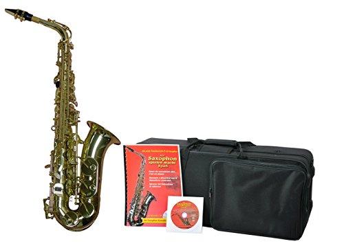 Saxophon ES-Alt, Komplett-Set Koffer, Lernbuch und Karaoke CD Schulinstrument