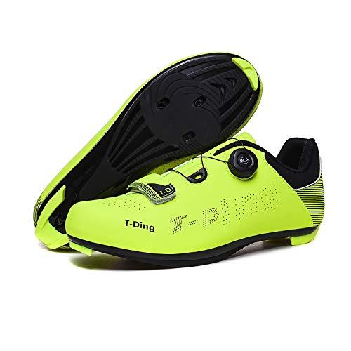 LHZTZKA Zapatillas de Bicicleta de Montaña,,Calzado de Bicicleta, Zapatos de Bicicleta Antideslizantes Transpirables para Hombres para Ciclismo de Carretera y Ciclismo de montaña