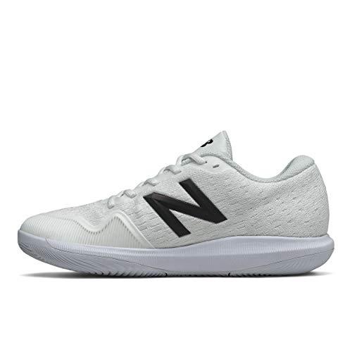 New Balance Women's FuelCell 996 V4 Hard Court Tennis Shoe, White/Iridescent, 5.5 M US