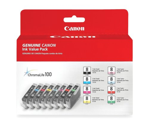 0620B015 Canon Tintenpatrone, Schwarz, Blau, Grün, Pink, Rot, Gelb