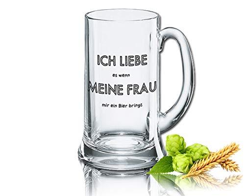 Rahmenlos - Jarra de cerveza (0,5 L), diseño con texto en alemán