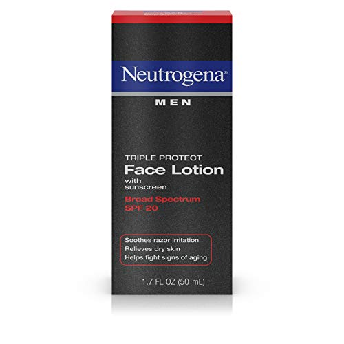 Neutrogena Triple Protect Men's Daily Face Lotion with Broad Spectrum SPF 20 Sunscreen,...