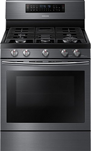 "Samsung Appliance NX58J7750SG 30"" True Convection Gas Range with 5.8 Cu. Ft. Oven Capacity in Black Stainless"