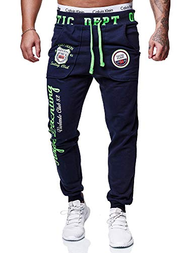 OneRedox Herren Jogginghose Sporthose Männer Trainingshose Sweatpants 601 Navy M
