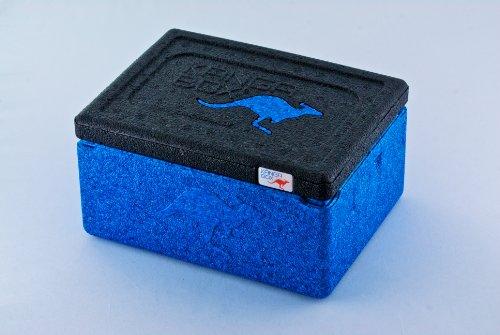 KÄNGABOX Mini EX3075BU blau, Thermobox, Inhalt 1,5 l. Stabil, leicht, klein, stapelbar. Verwendbar als Vesperdose, Vorratsdose, Lunch Box, Kühlbox, Isolierbox oder als Werbeartikel. Als Behälter für Zerbrechliches, Fotozubehör und für Eis und Schokolade. Für Picknick, Camping, Reise, Einkauf, Schule und Arbeit.