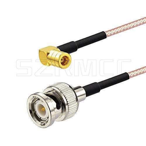 SZRMCC - Cable Adaptador de Antena de Radio Digital BNC Macho a ángulo Recto SMB Hembra Dab