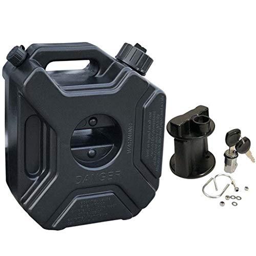 BAOFU 3L Kraftstofftank Kunststoff Benzinkanister Mit Halterung, tragbare antistatische Anti UV Kanister für ATV UTV Motorrad Auto Gokart,M