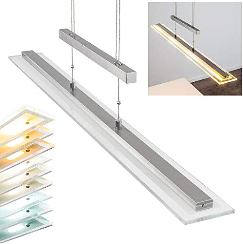 LED Pendelleuchte Junsele dimmbare lngliche hhenverstellbare Pendellampe für Esszimmer - Wohnzimmer - fest installierte LEDS - Lichtfarbe steuerbar - Sensorsteuerung - 3000-6500 Kelvin