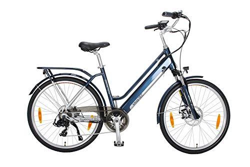 smartEC Trek-26D Trekking E-Bike 26 Zoll, 7 Gänge, Rahmen-Akku, Fahrunterstützung 25 km/h, Hinterrad-Nabenmotor, Li-Ion-Akku 36v, 250 Watt, Reichweite 70 km