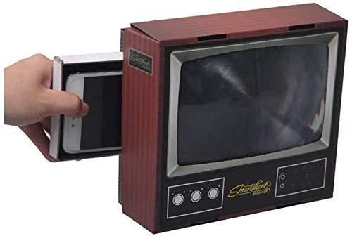 Telefon Bildschirm Lupe, 3D Vintage TV Smart Handy Lupe, Retro Mini Fernseher Telefonhalter Ständer für alle Smartphone Modell