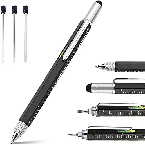 Bolígrafo multifunción táctico color negro – idea regalo graduación o cumpleaños