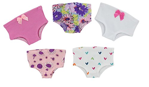 PZAS Toys 18 Inch Doll Clothes - 5 Piece Doll Underwear Set, Compatible with American Girl Doll Clothes and Accessories.