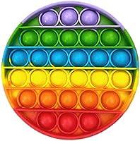 Ousyaah Sensorial Fidget Juguete, Push Pop Bubble Sensory Toy, Arco Iris Pop It Figit Toy Autismo Necesidades Especiales...