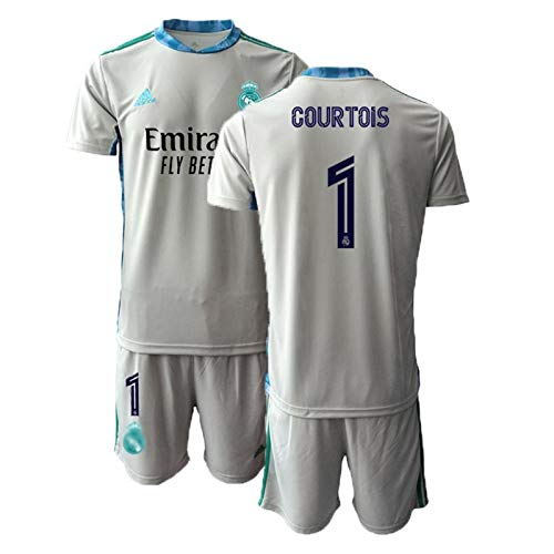 # 1 Courtois Fußballtrikot 2020/21Real Madrid Torhüter T-Shirt + Shorts