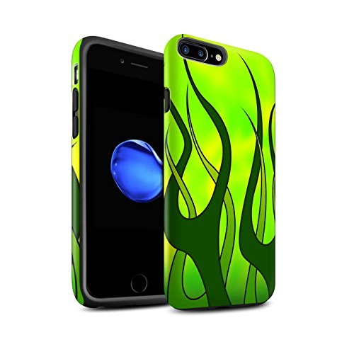 Stuff4®Phone Case/Cover/Skin/ip-3dtbm/Flame Paint Job Collection Verde y Lima Apple iPhone 8 Plus